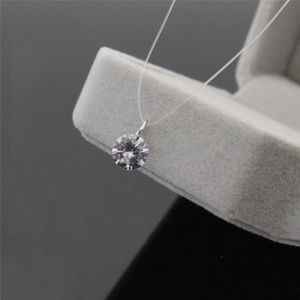 Jewelry - Invisible Fishing Line Zircon Choker
